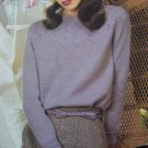 1980's Jaeger Hand Knitting Pattern Womens Evening Sweater Wool SIlk