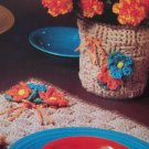 USA 1 Cent S&H Crocheted Vintage Pattern Placemat & Plant Pot Cover