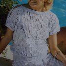 Vintage Knitting Pattern Patons Cotton Summer Top Open Sleeve 7119 Bust 32 - 38
