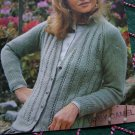 Retro Robin Lacy Front Cardigan Sweater Womens Pattern Bust 32 - 42