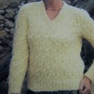 Vintage Wendy Knitting Pattern 2103 Lady's Long Sleeve Pullover Patterned Sweater