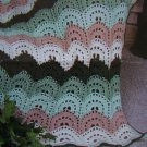 S&H 1 Cent USA Caron Yarn Afghan Pattern Crocheting Elegance