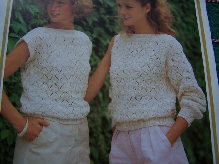 Jarol Knitting Patterns : Vintage Jarol Womens Sleeveless & Long SLeeve Slash Neck Sweaters Knittin...