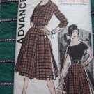 Misses Sz 14 Full Skirt Dress & Jacket Vintage Sewing Pattern 9520