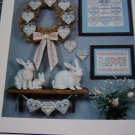 1 Cent USA S&H Imaginating Cross Stitch Leaflet 20 Family Hearts Children Grandchildren