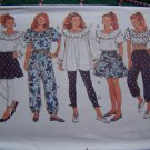 Girls Sewing Patterns Sz 7 8 10 Peasant Puffy Tops Tiered Skirts Pants Leggings