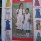 1 Cent USA S&H 8 Girls Summer Dress Patterns Sz 7 8 10 Sleeveless or Short SLeeve