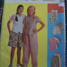 1 Cent USA S&H Easy Girls Sew Pattern 7 8 10 Top Unlined Vest Elastic Waist Pants or Shorts