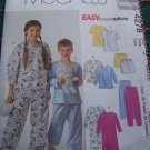 Girls & Boys 7/8 10/12 Night Shirt Top Pants Shorts Pajamas Sewing Pattern 4278