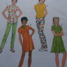 Sewing Pattern Girls 7 8 10 Princess Seam Dress or Shirt in Two Lengths with Pants 8803
