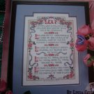 1 Cent USA S&H 1990's Leisure Arts Leaflet Love is Patient Love is Kind Cross Stitch Pattern