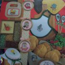 1 Cent USA S&H 1980's Vintage Kitchen Cross Stitch 49 Color Charted Design Patterns