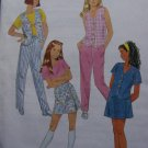 Girls 7 8 10 Sewing Pattern Lined Vest Top Pull on Pants Skort Summer Separates 8864