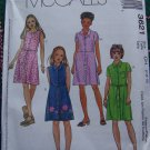 New Girls 12 14 16 McCall's Summer Shirt Belted Dress Sewing Pattern 3621