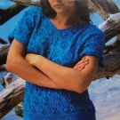 3 Vintage Knitting Patterns Misses Strap Sun Top Lacy Eyelet & Bobble Lace Tops