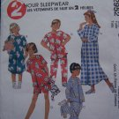 Easy Children's 2 Hour Sleepwear Boys or Girls Pajamas Summer Winter M L XL 2952