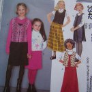 Girls McCall's 3342 Sewing Pattern 2 Length Jumper Dress Vest 7 8 10 Uncut