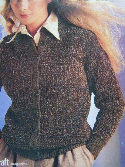 Jaeger Knitting Patterns Free : Vintage 80s Jaeger Hand Knitting Ladys Cardigan Sweater 4884