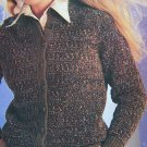 Vintage 80's Jaeger Hand Knitting Lady's Cardigan Sweater 4884