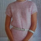 Vintage Wendy Lady's Lacy Pullover Tunic Top Sweater Knitting Pattern 2424