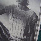 1980's Vintage Summer Cotton Knit Short Sleeve Patterned Top Pattern 703