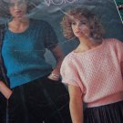 1 Cent USA S&H 2 Vintage Knitting Patterns Womens Short Sleeve Summer Knit Tops 1001 1002