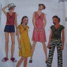 Uncut Girls 7 8 10 Sewing Pattern 3623 Flutter Sleeve Dress Sundress Tops Pants or Shorts