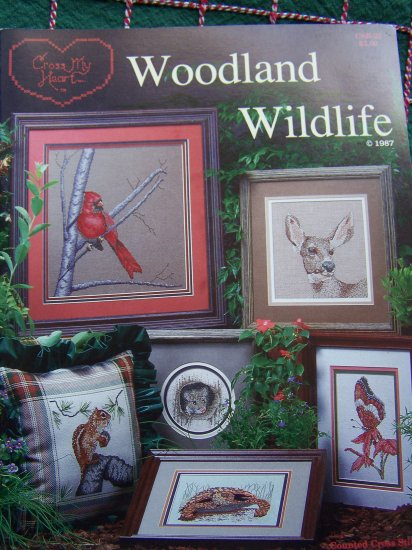 1985 Vintage Woodland Wildlife Cross Stitch Patterns Book 11 Forest Animals