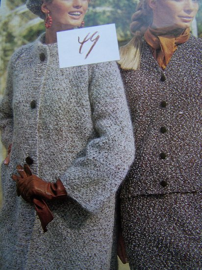 1960's Vintage Knitting Pattern Retro Womens Winter Suit Coat & Hat 2591