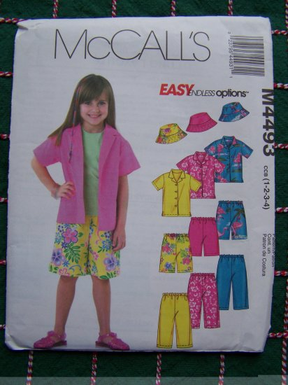 Toddler Girls Boys Summer Wardrobe Sewing Patterns Tops Capri Pants Shorts Hat 4493