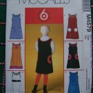 1 Cent USA Shipping McCall&#39;s 4579 Girls Plus Size Jumper Dress 6 Sewing Patterns