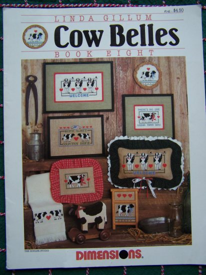 Vintage Cross Stitch Cow Belles Patterns Book 11 Country Cows
