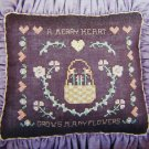 1 Cent USA S&H Cross Stitch Pattern A Merry Heart Grows Many Flowers