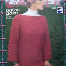 1970's Vintage KNitting Pattern 4573 Womens Sideways Knitted Sweater Bust 32 34 36 38 40