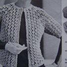 1 Cent USA S&H Vintage Quick Knit Mod Jacket Retro Knitting Leaflet Pattern 871