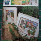 True Colors Cross Stitch Ribbon Embroidery Pattern Book Mediterranean Village Tuscany Cottages