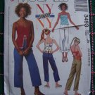Jrs Sewing Pattern Summer Empire Waist Split Center Camisole Tops Capri Pants 3493