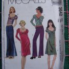 Girls 7 8 10 Sweetheart Neckline Dress Shirts Pants Sewing Pattern McCall's 3642
