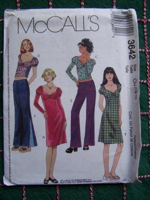 Empire Gathered Bodice Sweetheart Neckline Dress Pattern Size