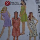 Girls Easy 2 Hour Sewing Pattern Summer Dress Sundress Straps Peasant Style 4438 10 12 14 16