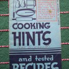 Vintage 1930's Vintage Cookbook Grandma's Country Crisco Baking Cakes Pies Pastry Cookies