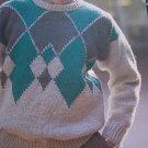 Men's Vintage Emu Knitting Pattern Pullover Sweater 4894