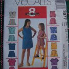 Girls Sewing Pattern 3677 Summer Wardrobe Tops Skorts 10 12 14 Uncut McCall's
