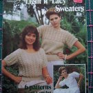Vintage Retro Knitting Patterns Book 6 Light N Lacy Sweaters Summer Tops