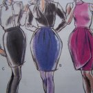 Misses Vintage Sewing Patterns 3 Skirts Wiggle Wrap Straight Pattern 1763 XS S M L