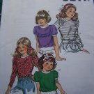 Vintage Kwik Sew Girls Sewing Pattern 1236 Short Puff or Long Ruffle Sleeves 8 10 12 14