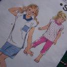 Vintage Kwik Sew Girls Sewing Pattern 1729 Summer Cap Slv Tops Capri Pants Skirt 8 10 12 14