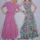 80's Vintage Misses Flared Sundress or 2 Piece Dress Skirt & Top 1875 Sz 6 8 10 12