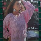 1988 Vintage Patons Susan Bates 8 Picture Pretty Sweaters Top Knitting Patterns Book 17767