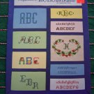 80's Vintage Needlepoint Alphabet & Monograms Pattern Book 6 + Brackets